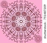 elegant pattern | Shutterstock .eps vector #751487209