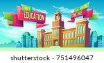 vector cartoon illustration ... | Shutterstock .eps vector #751496047