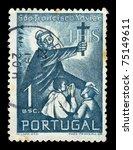 portugal   circa 1952. vintage... | Shutterstock . vector #75149611