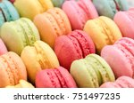 sweet colorful macaroons for... | Shutterstock . vector #751497235