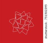 christmas bow icon  vector... | Shutterstock .eps vector #751502395