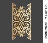 laser cut decorative element.... | Shutterstock .eps vector #751504114