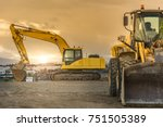 building a road with varied... | Shutterstock . vector #751505389