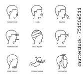 illness set of vector icons ... | Shutterstock .eps vector #751506511
