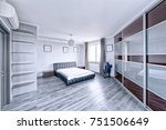 interior design bedrooms. | Shutterstock . vector #751506649