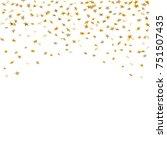 gold stars falling confetti... | Shutterstock .eps vector #751507435