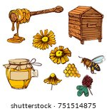 honey colored vector... | Shutterstock .eps vector #751514875