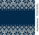 traditional fair isle style... | Shutterstock .eps vector #751515331