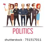political election campaign... | Shutterstock .eps vector #751517011
