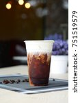 Small photo of Iced americano topping with cream cheese