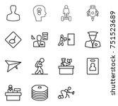 thin line icon set   man  bulb... | Shutterstock .eps vector #751523689