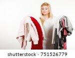 fashion  clothes dilemmas... | Shutterstock . vector #751526779
