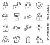 thin line icon set   lock ... | Shutterstock .eps vector #751528339
