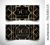 gift voucher in luxury art deco ... | Shutterstock .eps vector #751530115