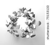 broken wall | Shutterstock . vector #75153133