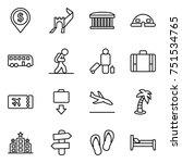 thin line icon set   dollar pin ... | Shutterstock .eps vector #751534765