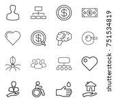 thin line icon set   man ...   Shutterstock .eps vector #751534819