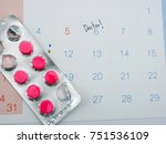 doctor appointment reminder on... | Shutterstock . vector #751536109