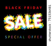 black friday sale special offer ... | Shutterstock .eps vector #751536481