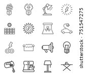 thin line icon set   bulb ... | Shutterstock .eps vector #751547275