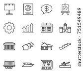 thin line icon set   billboard  ... | Shutterstock .eps vector #751549489