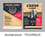 chess camp posters  flyer with... | Shutterstock .eps vector #751549615