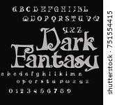 font dark fantasy   gothic font    Shutterstock .eps vector #751554415