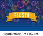fiesta  fireworks and... | Shutterstock .eps vector #751557625