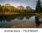 rocky mountains and forest... | Shutterstock . vector #751558369