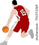 basketball player illustration  ... | Shutterstock .eps vector #751571569