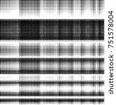 grunge halftone black and white ... | Shutterstock .eps vector #751578004