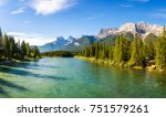 canmore  canada   june 26  2017 ... | Shutterstock . vector #751579261