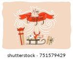 hand drawn vector abstract fun... | Shutterstock .eps vector #751579429