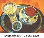 traditional turkish coffee.... | Shutterstock . vector #751581325