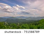 mountain landscape with green... | Shutterstock . vector #751588789
