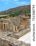 knossos palace archaeological... | Shutterstock . vector #751588795