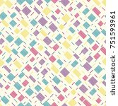 seamless pattern with... | Shutterstock .eps vector #751593961