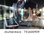 smart industry and automation... | Shutterstock . vector #751600909