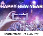happy new year party concept  ... | Shutterstock . vector #751602799