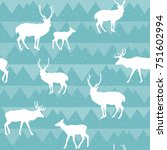 seamless christmas pattern with ... | Shutterstock .eps vector #751602994