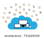 cloud enabled equipment with... | Shutterstock .eps vector #751604254