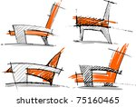 sketches of ferniture | Shutterstock .eps vector #75160465