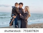 Happy Family With Son Standing...