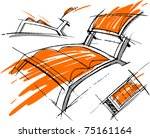 sketchs of ferniture. design... | Shutterstock .eps vector #75161164