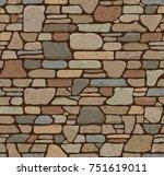 seamless grunge stone brick... | Shutterstock . vector #751619011