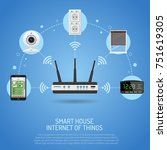 smart house and internet of... | Shutterstock . vector #751619305