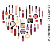 flat illustration of cosmetic... | Shutterstock .eps vector #751620499