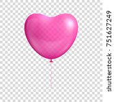 heart shaped balloon... | Shutterstock . vector #751627249