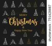 merry christmas and happy new... | Shutterstock .eps vector #751628887