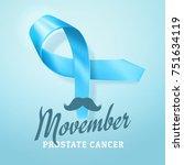 prostate cancer awareness  blue ... | Shutterstock .eps vector #751634119